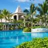 Detalle de la piscina principal del Sugar Beach, Mauricio