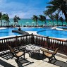 Detalle de la piscina de The Residence, Mauricio