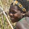 Joven bosquimana del lago Eyasi, Tanzania