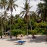 La playa del Kinasi Lodge es un auténtico remanso de paz