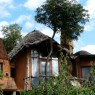 Vista exterior de las habitaciones del Ngorongoro Cráter Lodge