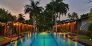 Piscina de Chandria Hotel donde poder refrescarse después de su visita al Parque Nacional de Yala