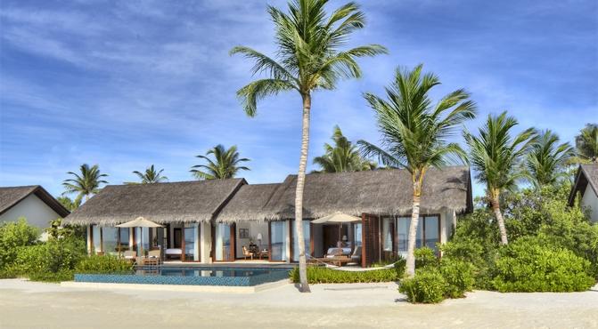 Beach villa con piscina y 2 dormitorios