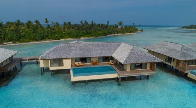 Water Villa con piscina y 2 dormitorios
